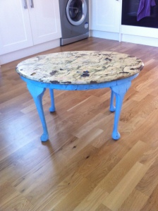 Before table upcycling diy