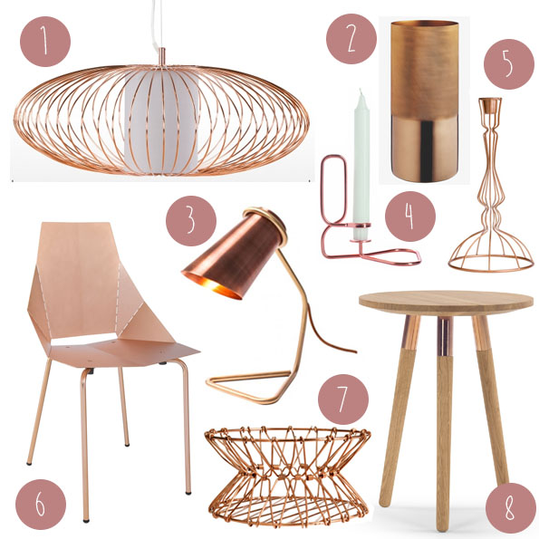 Trend copper accessories thriftylegs for Trendy house accessories