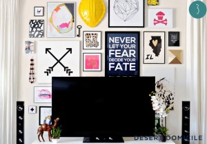 gallery wall inspiration colour frames modern