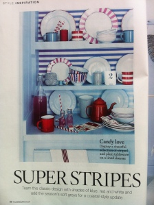 work experience magazine interior stripes dresser