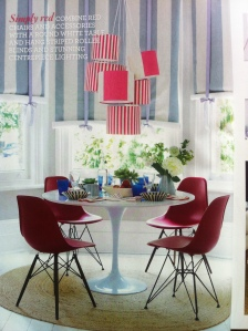 work experience magazine interior stripes lampshade