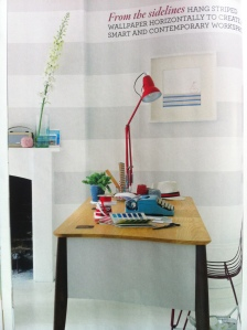work experience magazine interior stripes