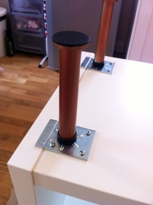Ikea Capita legs spray paint copper