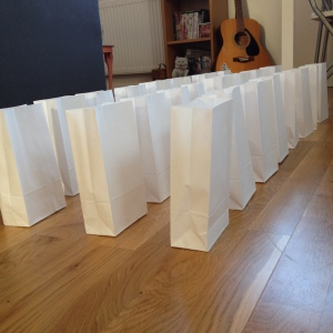 paper bags, advent calendar, homemade, craft