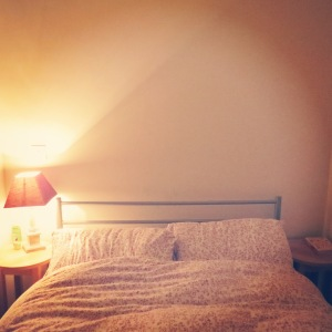 drill, bedside, light, filament, exposed, bulb, hang, wall, diy, retro, modern, small bedroom, solution, before